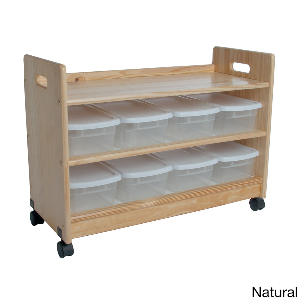 Little Colorado Toy Organizer with Casters, Natural by Overstock