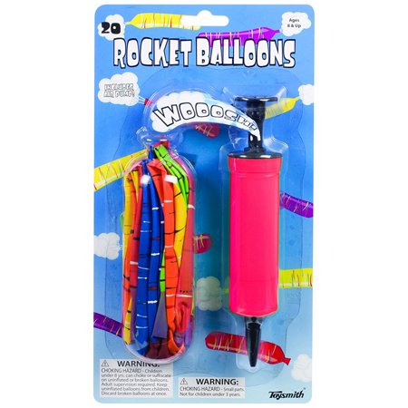 20 Rocket Balloons with Air Pump Neato! (Colors May Vary) by Toysmith