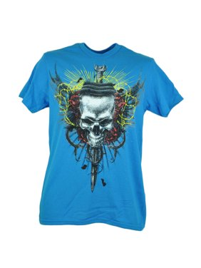 60714f80 Product Image Fifth Sun Sword Skull Distressed Graphic Tshirt Turquoise Tee  Mens Adult XLarge