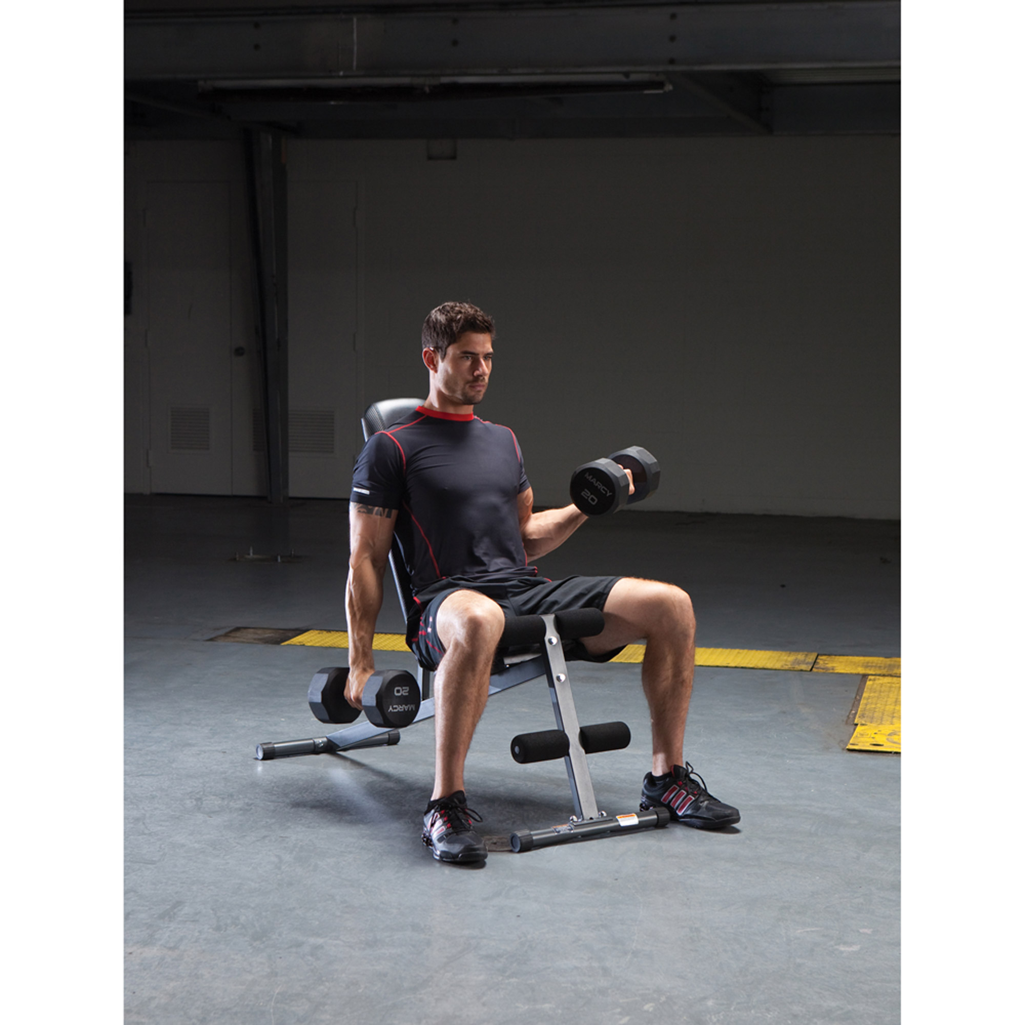 Marcy Utility Bench: SB-261W, olympic exercise equipment,body solid folding utility bench,keys fitness benches