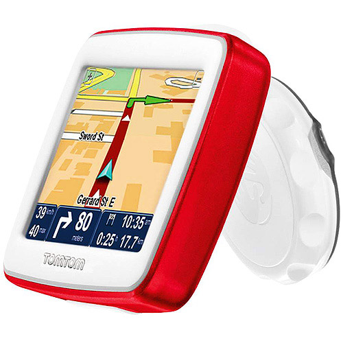 GPS, TOMTOM EASE, RED/WHITE, MAPS