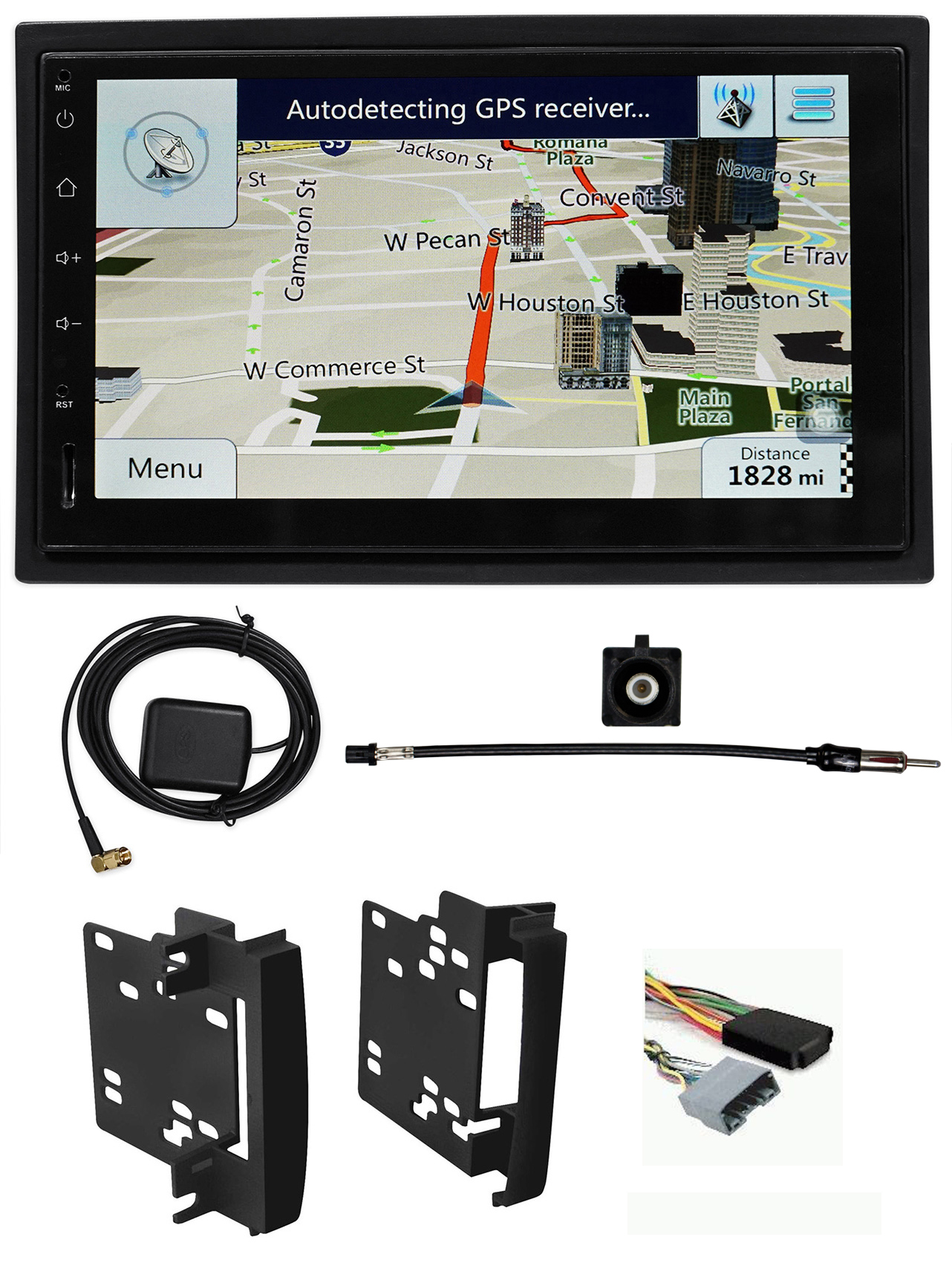 2008-2010 Jeep Grand Cherokee Car Navigation Bluetooth Wifi Android Receiver by ROCKVILLE