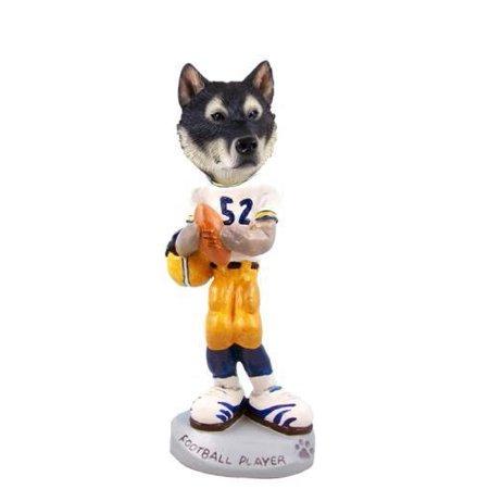 - No.Doog10834 Alaskan Malamute Football Player Doogie Collectable Figurine