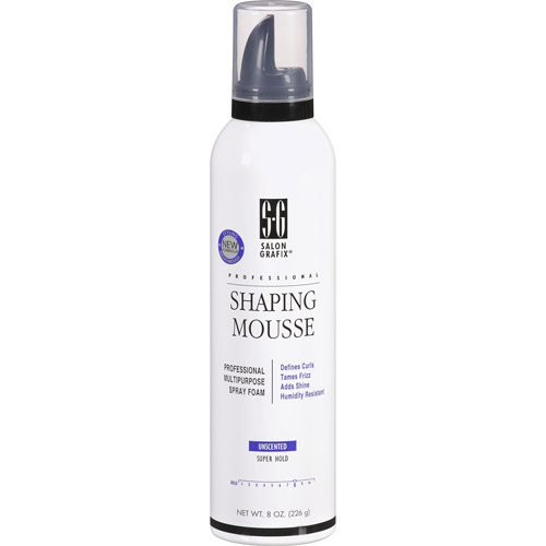 Unscented hair mousse