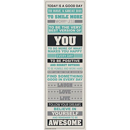 Brand New  Be Awesome Inspirational Motivational Happiness Quotes Decorative Poster Print  12X36 Unframed  High Quality