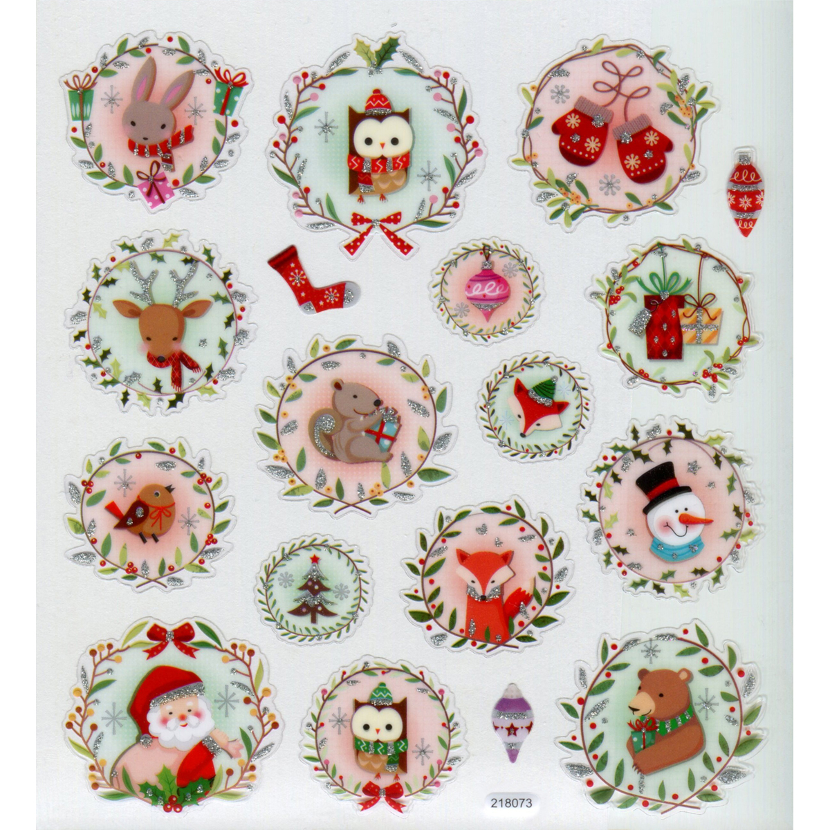 Multicolored Stickers-Christmas Animals