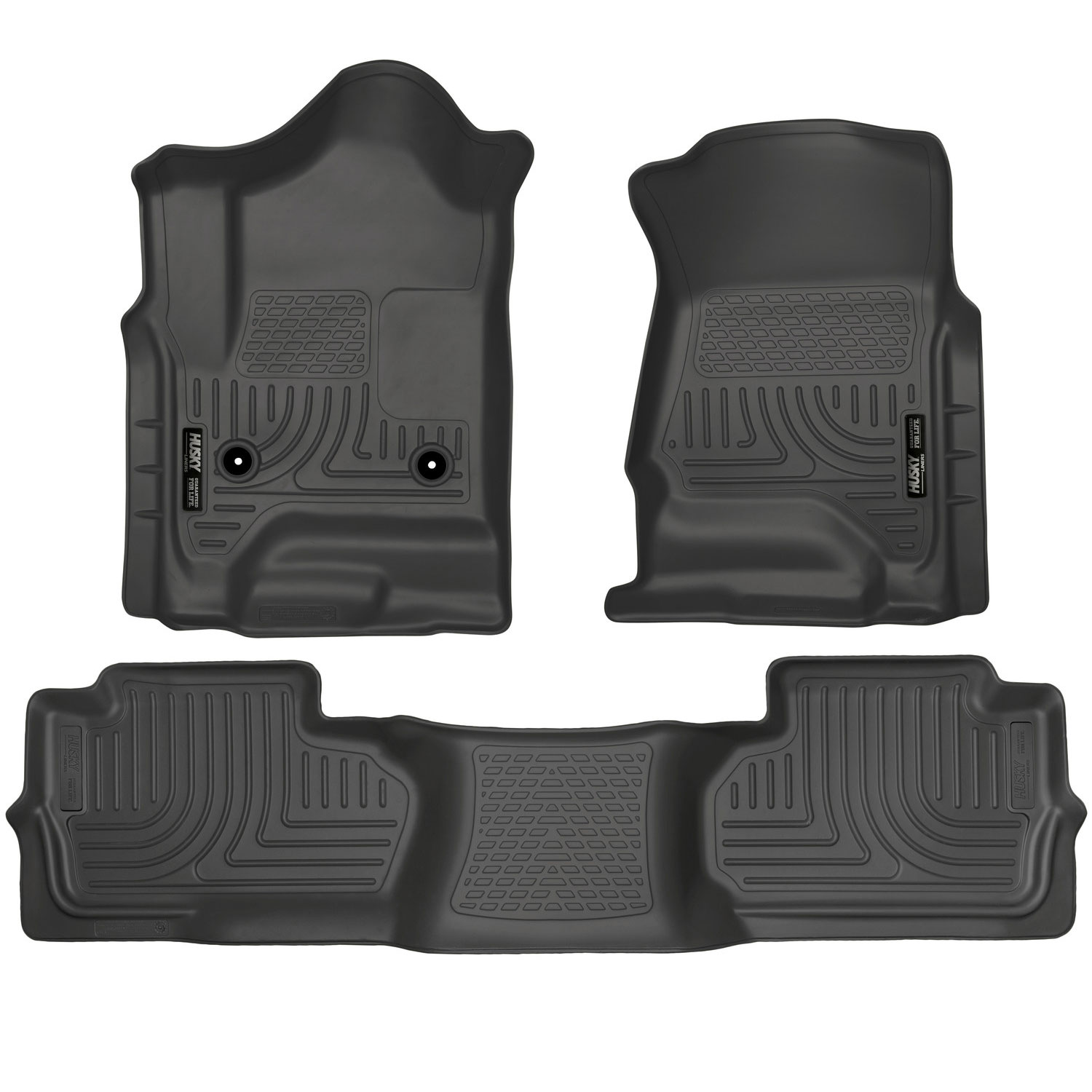 Husky Liners Front & 2nd Seat Floor Liners Fits 14-17 Silverado/Sierra Double