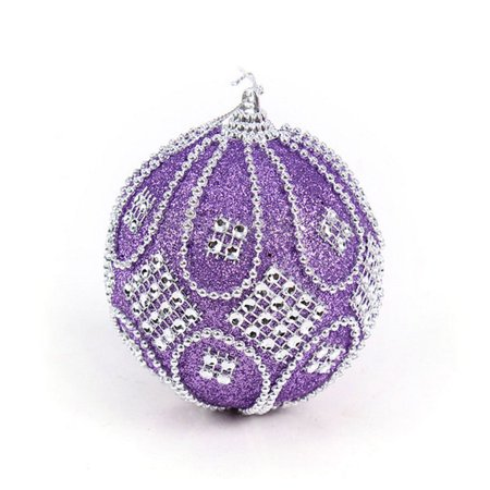 Huppin's Hot Sale Christmas Decoration Rhinestone Glitter Baubles Balls Xmas Tree Hanging Ornament Home Festival Decor (Christmas Carolers Decorations Sale)