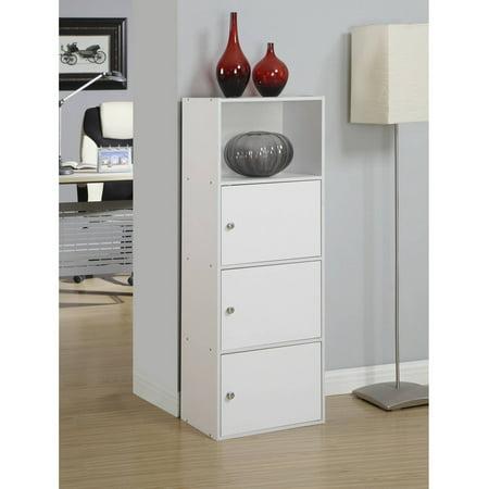 Convenience Concepts XTRA Storage 3-Door Cabinet Black European Storage Cabinet