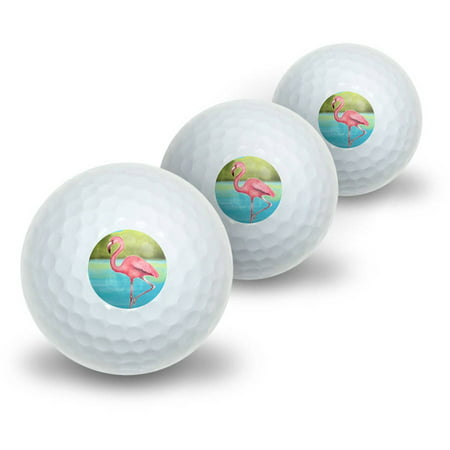 Flamingo Novelty Golf Balls, 3pk](Novelty Golf Items)
