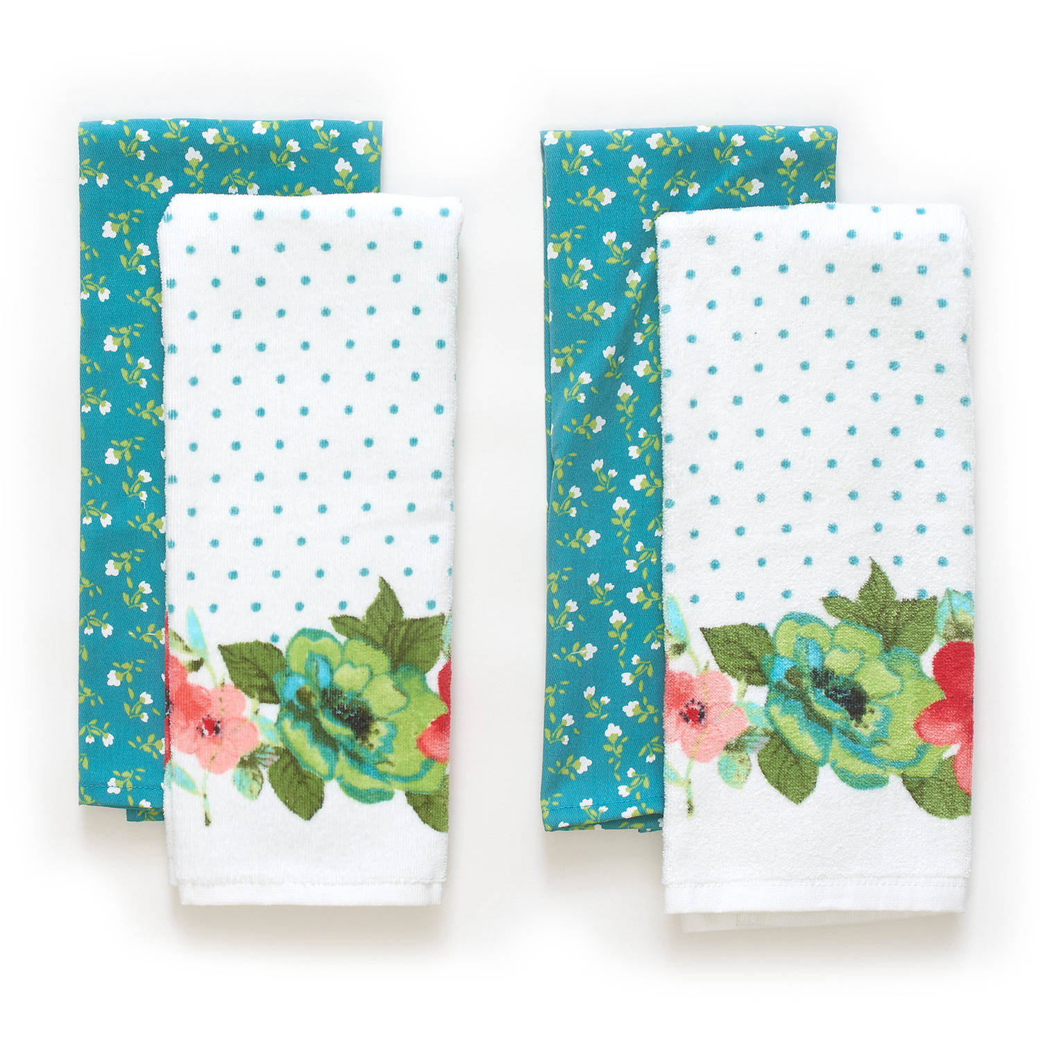 The Pioneer Woman Vintage Bloom Kitchen Towel Set, 4pk