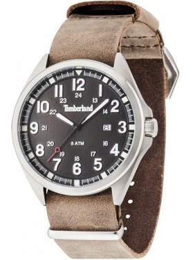 TBLGS14829JS02AS Men's Brown Leather Band With Black Dial Watch NWT