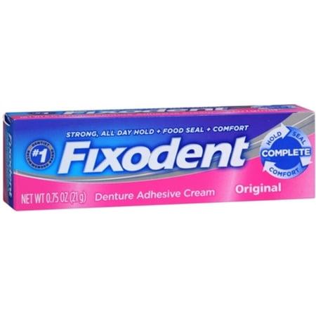 Fixodent Original Cream (Fixodent Denture Adhesive Cream Original 0.75 oz (Pack of 6) )