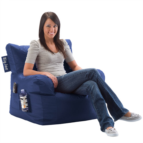Big Joe Bean Bag Chair, Blue Sapphire