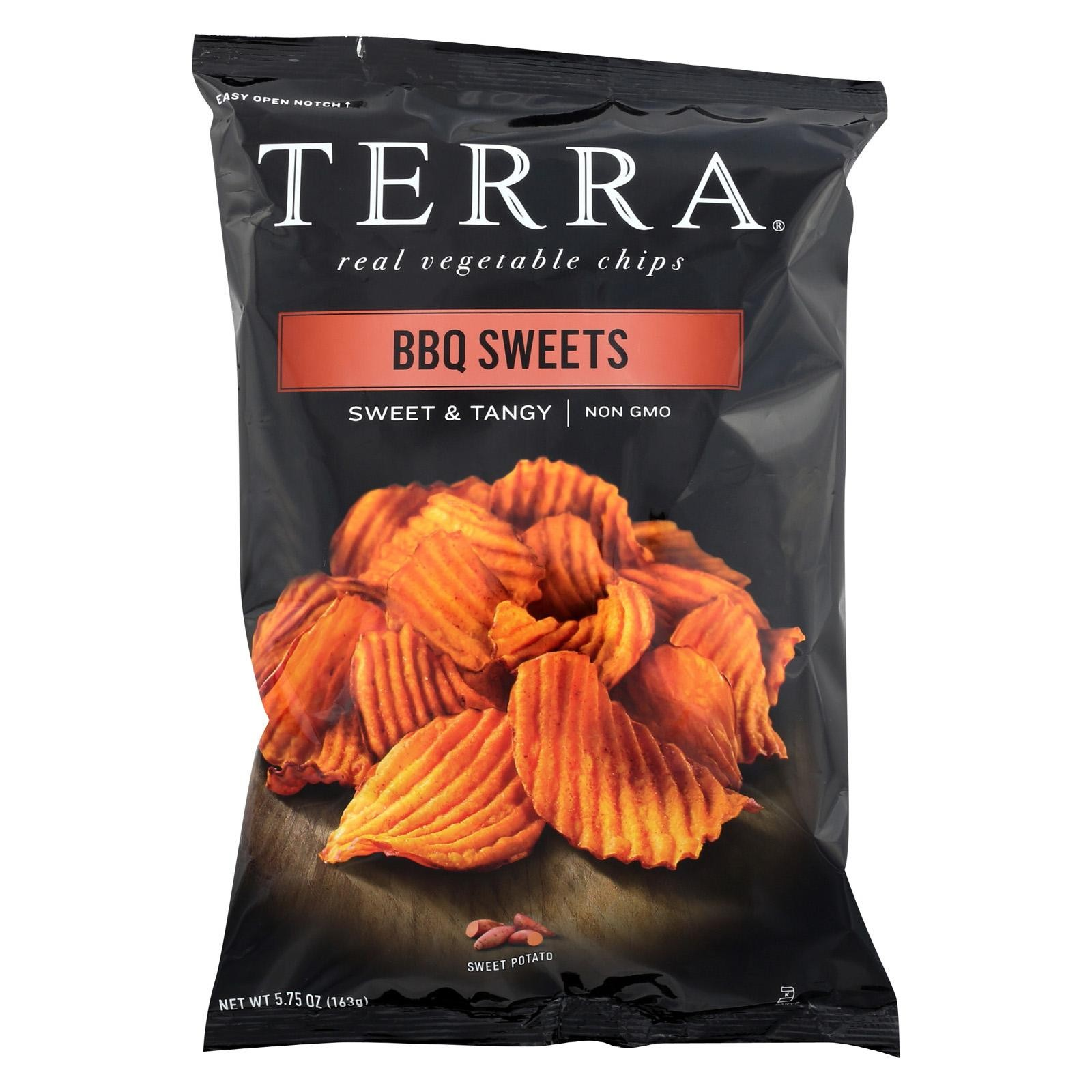 Terra Chips Sweet Potato Chips - Bbq Sweets - Pack of 12 - 5.75 Oz