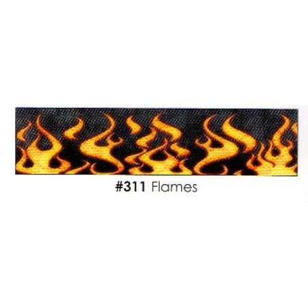 Flames 3 Strips Edible Frosting Photo Cake Border Decoration - Decoration Border