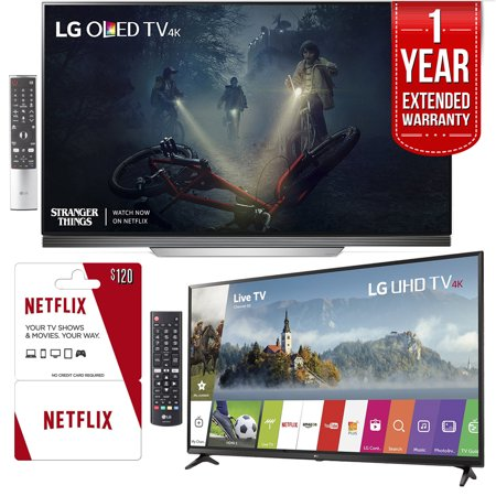 "LG OLED55E7P 55"" E7 OLED 4K TV With Bonus 55UJ6300 55"" 4K"