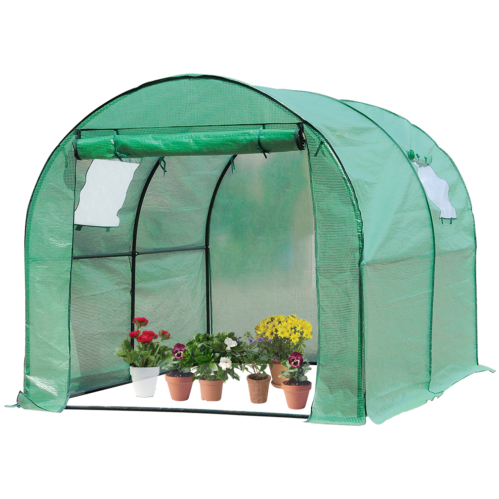 Product Image Portable Greenhouse, Indoor Outdoor Large Plant Shelves  Tomato Herb Canopy Winter Walk In Green
