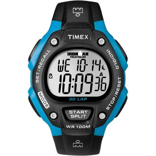 Timex Sport Ironman Black and Bright Blue T5K521