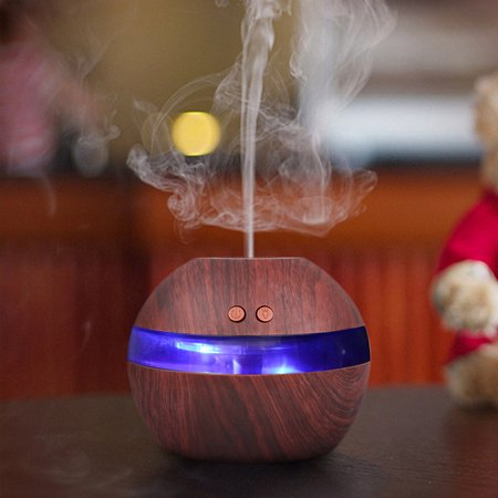 300Ml Essential Oil Diffuser Usb Wood Grain Ultrasonic Aroma Cool Mist Humidifier Led For Office Home Bedroom Baby Room Study Yoga Spa