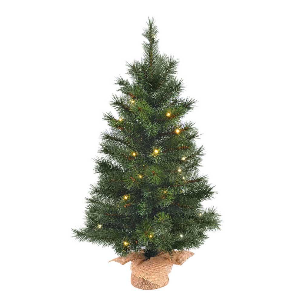 Santas Little Helper Collection 36-Inch Pre-Lit Green Pine Tree