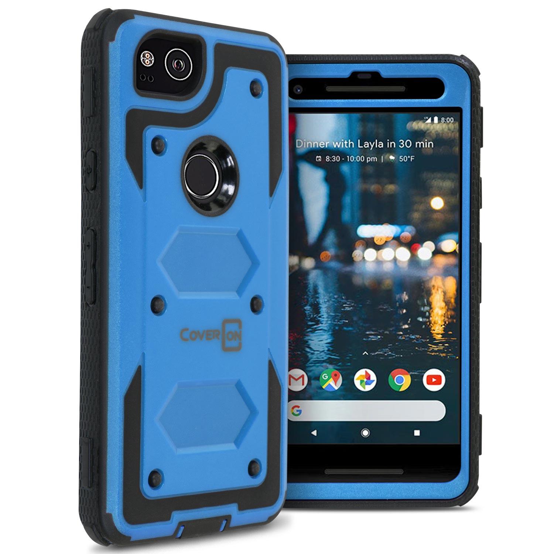 CoverON Google Pixel 2 Case, Tank Series Hard Protective Armor Phone Cover