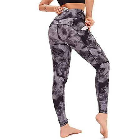 UKAP Yoga Leggings for Women High Waist Full-Length Capri Leggings for Ladies Workout Pants with Inner Pockets Tights Outfit Stretch Shapewear Womens Activewear Leggings Pants & Capris