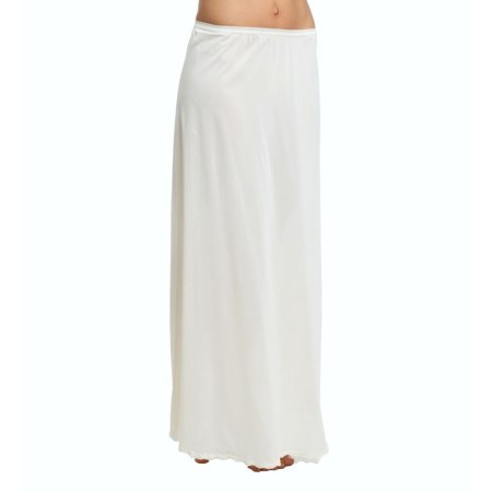 Women's Shadowline 4711638 38 Inch Long Flare Half (White Nylon Half Slip)