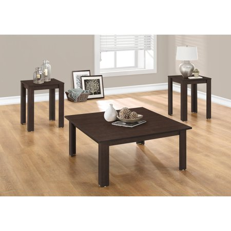 Monarch-Table Set - 3Pcs Set / Cappuccino - Walmart.com