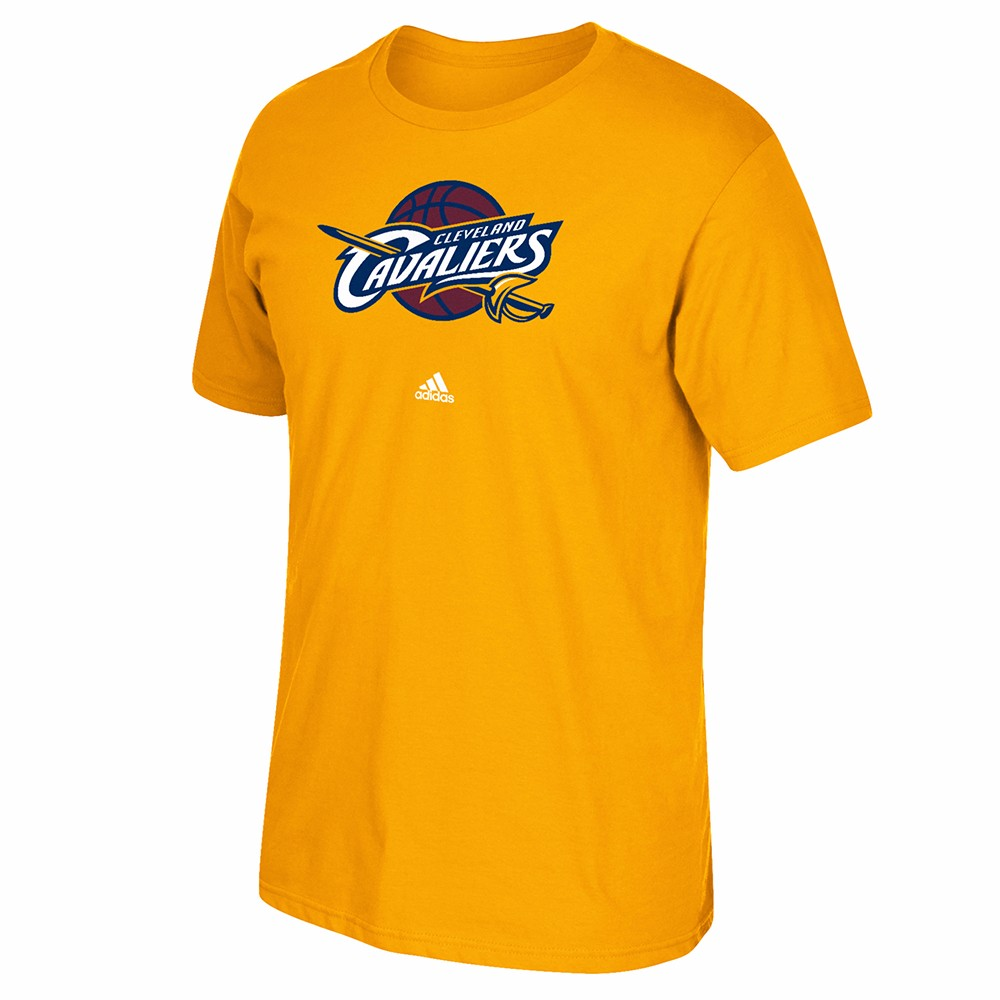 Cleveland Cavaliers NBA Adidas Gold Primary Logo T-Shirt For Men