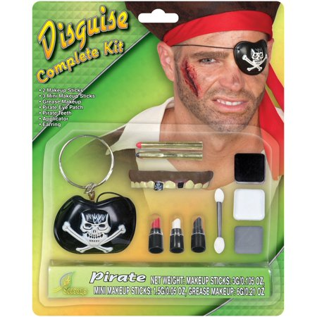 Seasons Master of Disguise Pirate 12pc Accessory Kit, Black Brown, 6g
