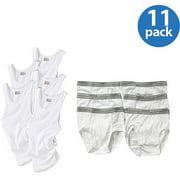 Boy's 5-Pack A-Shirts & 6-Pack White Briefs Value Bundle