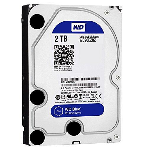Wd Blue 2 Tb 3.5-inch Sata 6 Gb/s 5400 Rpm Pc Hard Drive - Sata - 7200 - 64 Mb Buffer - Blue (wd20ezrz)