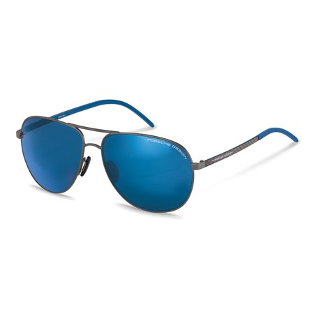 PORSCHE P-8651-E-63 Sunglasses Size 63mm 140mm 14mm Dark Gunmetal Brand New