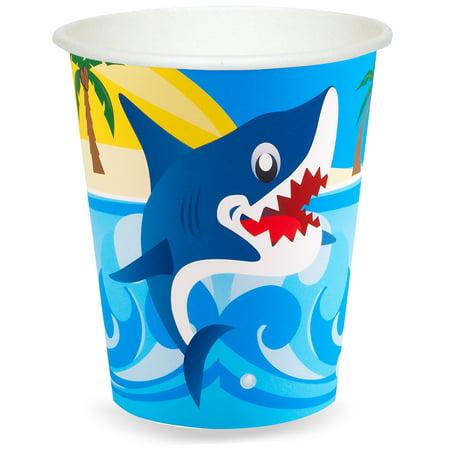 Little Shark 9 oz. Paper Cups, 24ct - Paper Shark