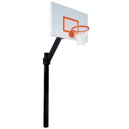 Junior Soft Ground (Legend Jr. Endura Steel-Aluminum In Ground Fixed Height Basketball System, Gold)