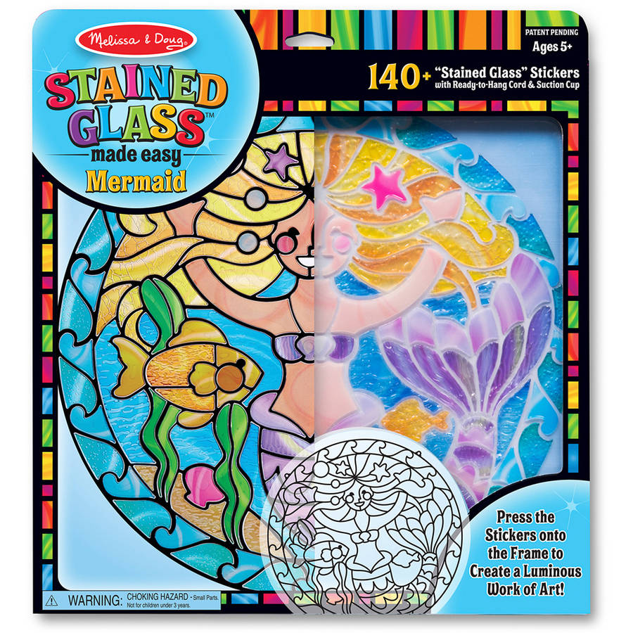 Melissa & Doug Stained Glass Made Easy Activity Kit: Mermaids 140+ Stickers by Generic