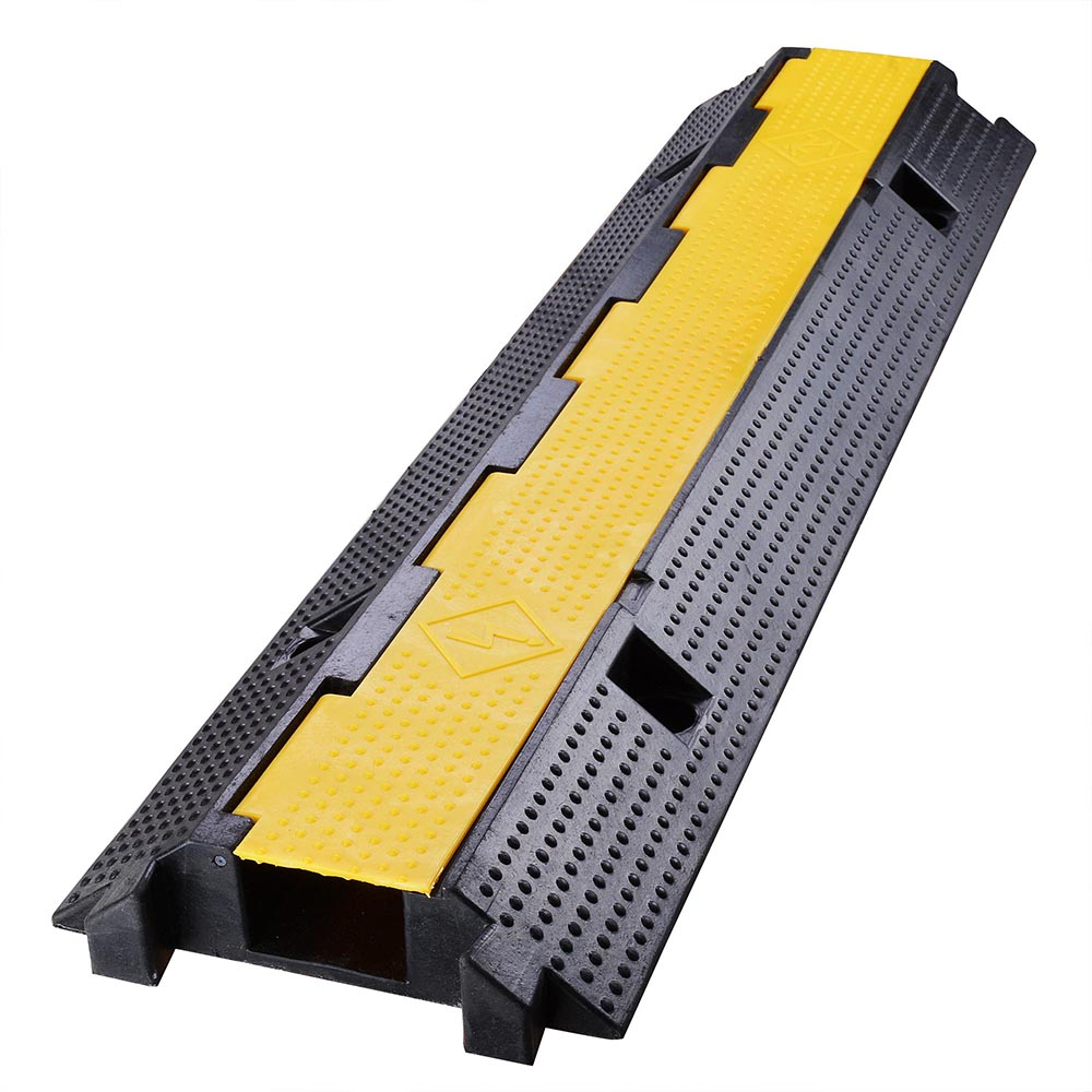 yescom medium rubber electrical wire cover ramp guard warehouse cable cord protector - Cord Cover