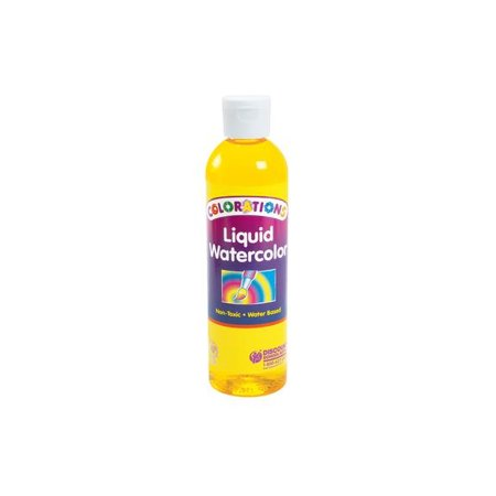 Colorations Liquid Watercolor Paint, Yellow - 8 oz. (Item # LWYE)