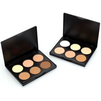 6 color Makeup Compact Face Powder Contour Make Up Studio Fix Bronzer Shading Mineral Pressed Powder Palette