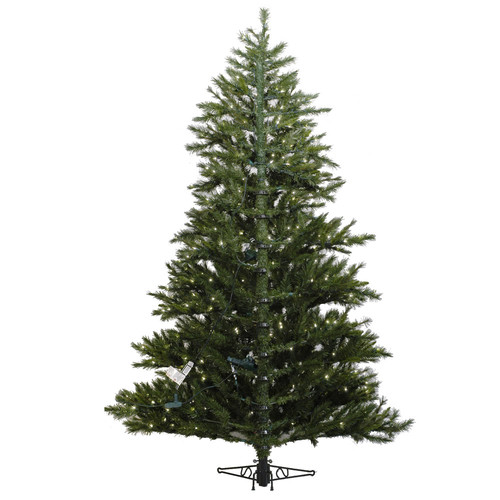 Vickerman Minnesota Pine Westbrook 6.5' Green Artificial Half Christmas Tree with Stand