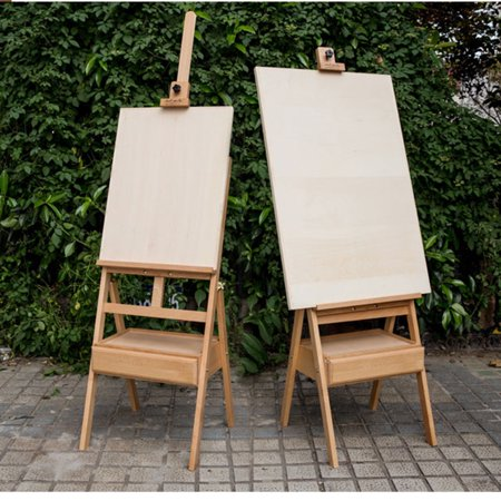 zimtown portable large h frame artist wood table desk top easel