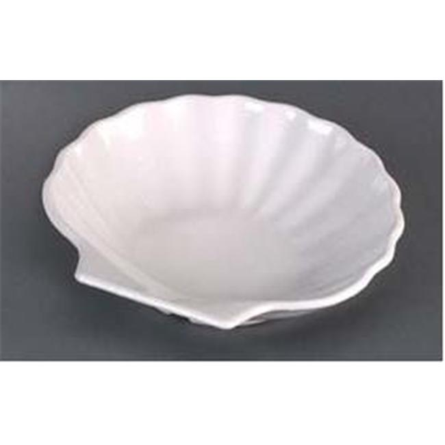 Gessner Products IW-0332-BN Shell Side Dish, 5 inch Dia. - Case of 12