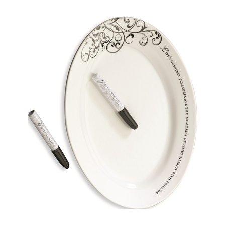 Lillian Rose Oval Signing Plate Wedding Keepsake Designer Jewelry by Sweet Pea
