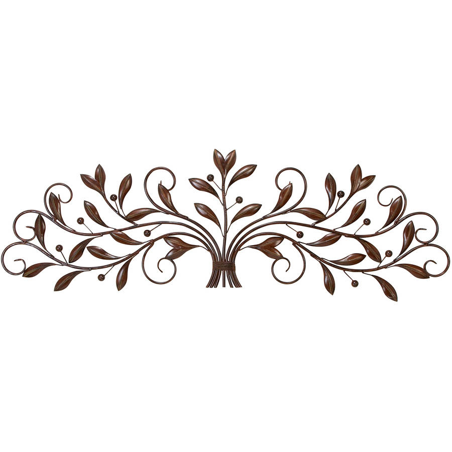Decmode Metal Wall Decor, Brown