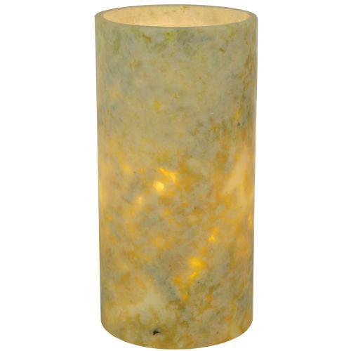 """Meyda Tiffany 121712 4"""" W X 8"""" H Jadestone Green Flat Top Candle Cover by Meyda Tiffany"""