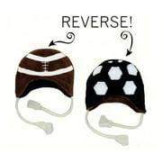 LCKDWLFS Football/Soccer Reversible Kid's Winter Hat Large