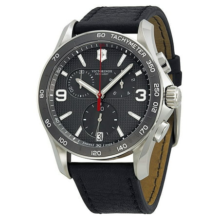 Victorinox Swiss Army Men's Chronograph Classic Leather Watch 241657