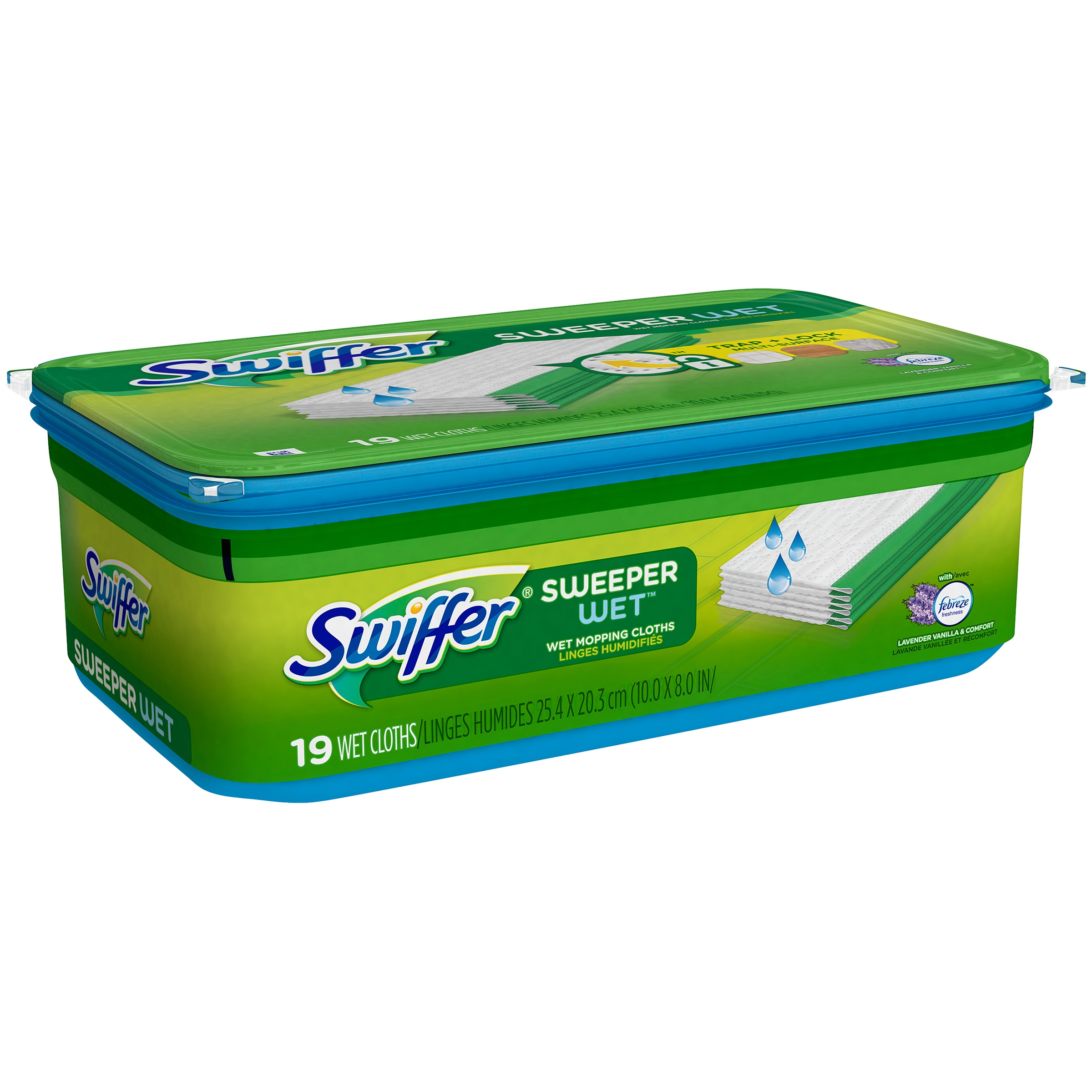 Swiffer Sweeper, Wet Mopping Pad Multi Surface Refills for Floor Mop, Lavender & Vanilla Comfort, 38 Count