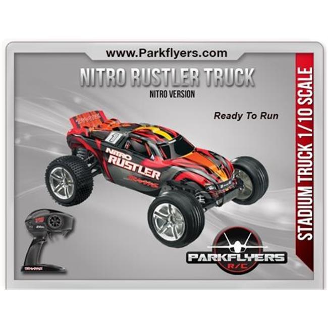 ParkFlyers 44096-3 Traxxas Nitro Rustler 1-10 Scale 2WD S...